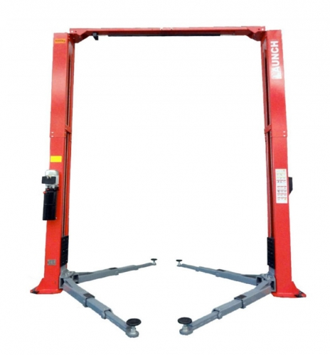 TLT250 AT Hydraulic clear floor two post lift With a capacity of 5 t and triple telescoping arms