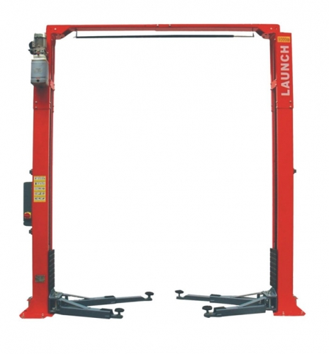 TLT240SCA Hydraulic two post lift with floor plate with a capacity of 4 t and electromagnetic unlock