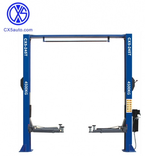 CX5-245T 4.5ton two post car lift clear floor design