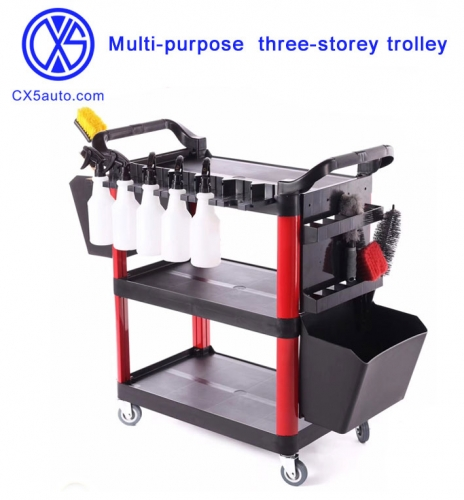 Multi-purpose tool car three-storey trolley car beauty shop wash Car Shop work car
