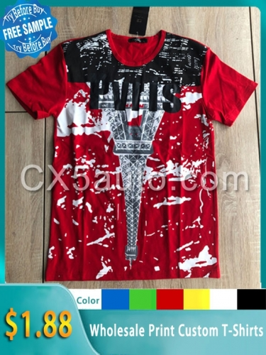 Wholesale 2020 Newest custom made print t shirt men