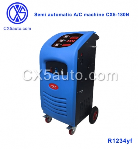CX5-180N Semi-Automatic AC Refrigerant Machine R1234yf