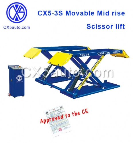 CX5-3S Mid Rise Movable Scissor lift 3000kg